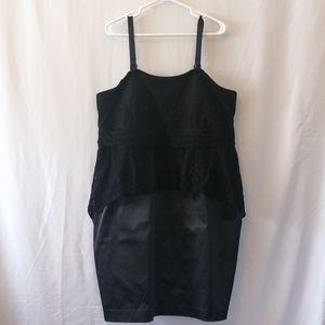 New Noir Peplum Lace Dress